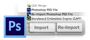 Storyboard Designer Photoshop Import