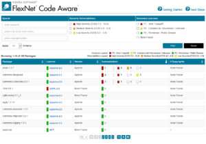 FlexNet Code Aware Identify OS Third Party Packages