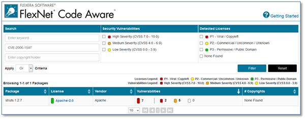 FlexNet Code Aware Package Inventory Report
