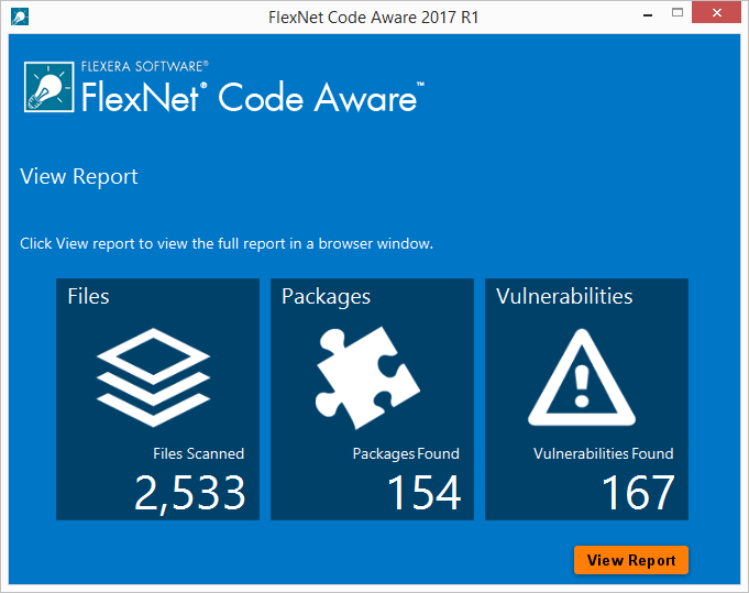 FlexNet Code Aware Perform Fast Automated Scans