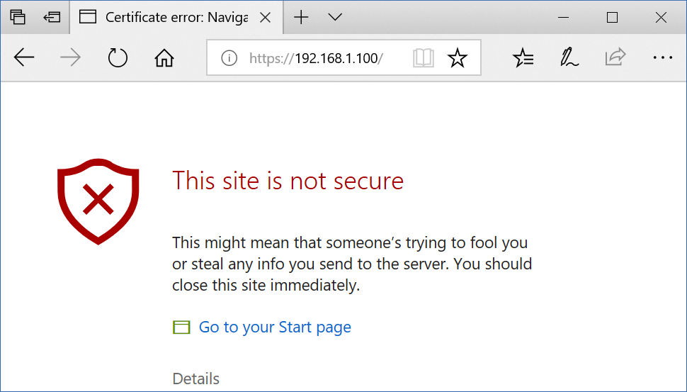 Browser SSL Warning